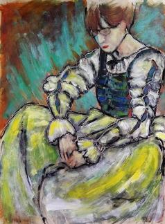 Girl in Elizabethan Dress